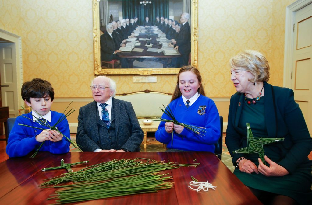 St Bridget event at Aras an Uacharain