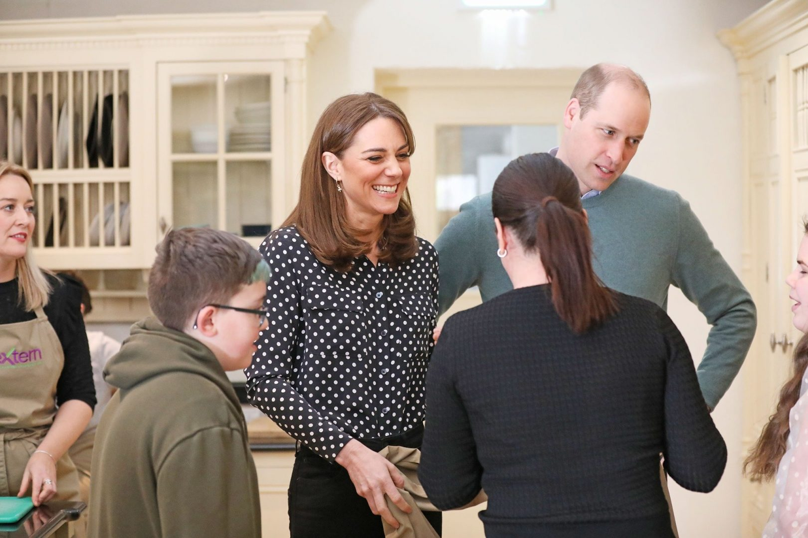 William and Kate visiting the charity Extern in Kildare.