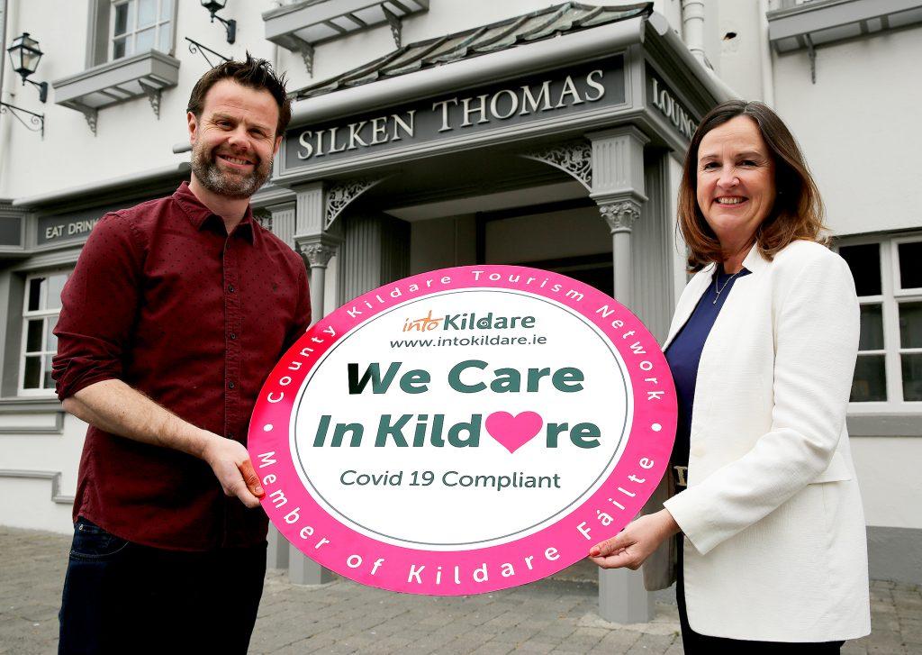 Brian Flanagan (Owner Silken Thomas, Kildare Town) and Aine Mangan (CEO Into Kildare)