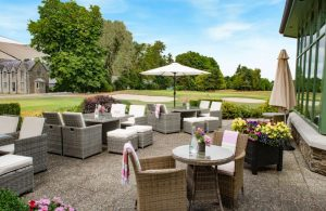 Kilkea Castle outdoor dining Kildare