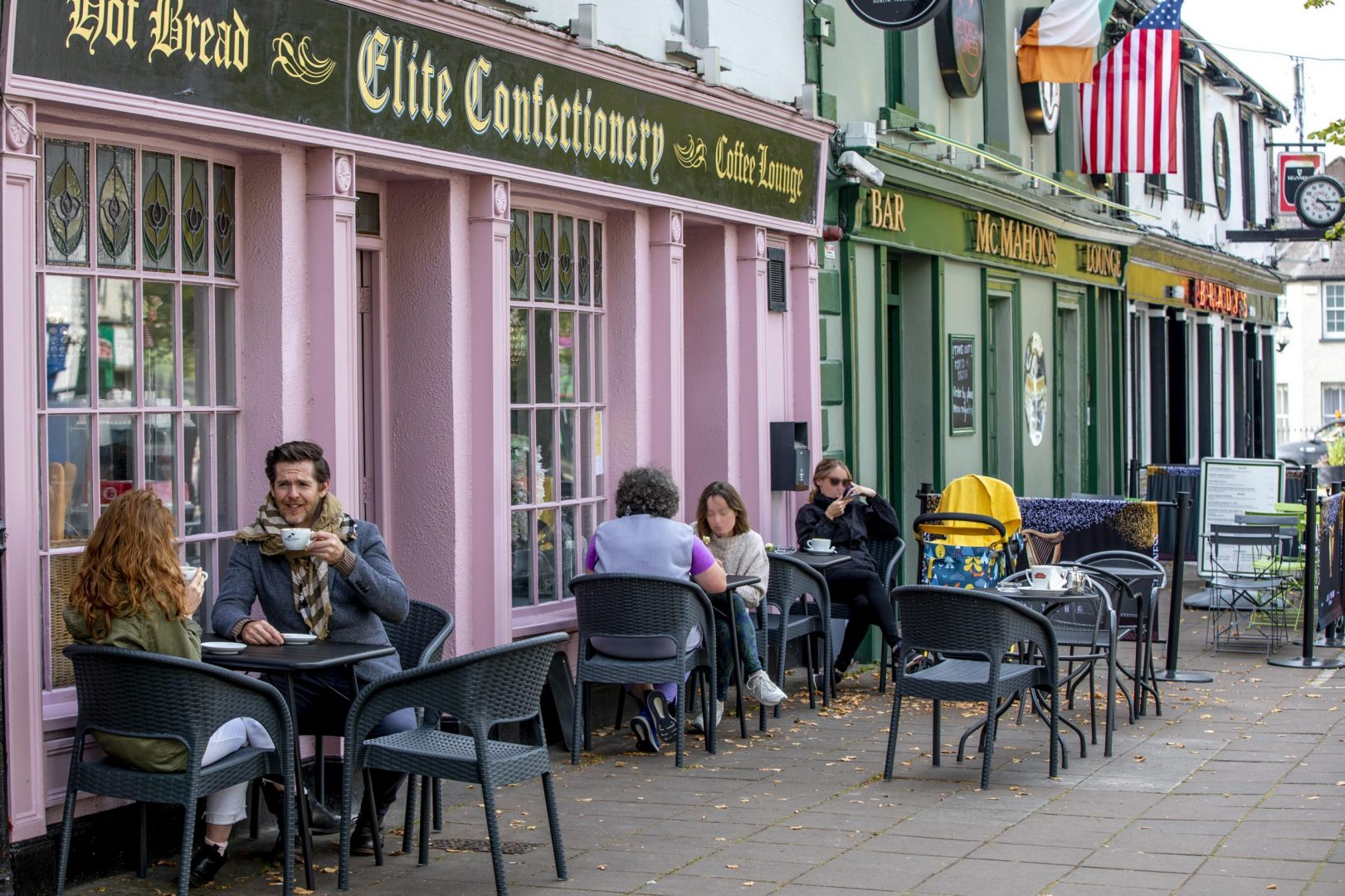 Dining outdoors in Maynooth