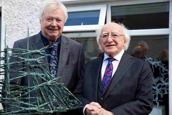 """""""reflections"""" Exhibition Of Sculpture By John Behan Rha Opens May 11th By The President Of Ireland Michael D. Higgins And Sabina Higgins At Kilcock Art Gallery, Co. Kildare"""