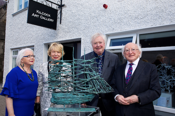 """""""reflections"""" Exhibition Of Sculpture By John Behan Rha Opens May 11th By The President Of Ireland Michael D. Higgins And Sabina Higgins At Kilcock Art Gallery, Co. Kildare."""
